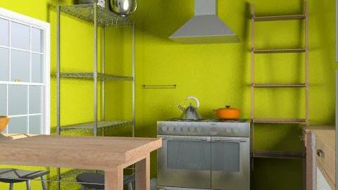 kitchen layout- detailed view B - Minimal - Kitchen  - by cindredm05