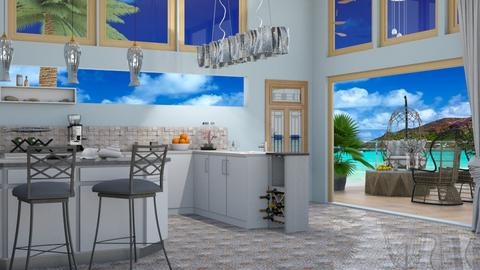 Ocean inspired kitchen - by nat mi