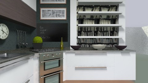 3x3 kitchen - Glamour - Kitchen  - by Julia_GC