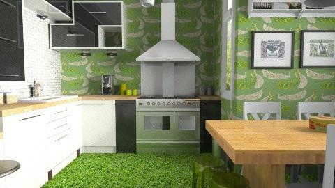 Brick wallstest - Modern - Kitchen  - by JeroenBekkers