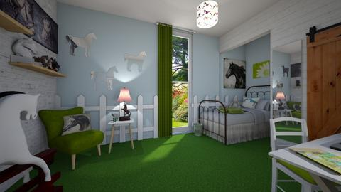 horsie - Country - Kids room  - by donella