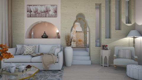 cream wood - Living room  - by donella