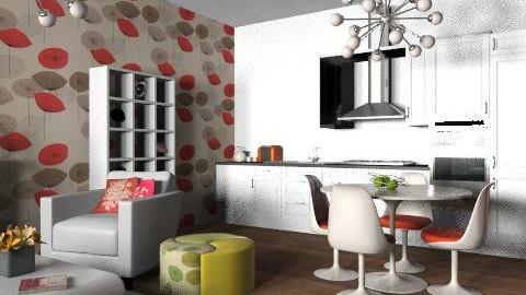 funky flat 2 - Retro - Living room  - by yasemin04