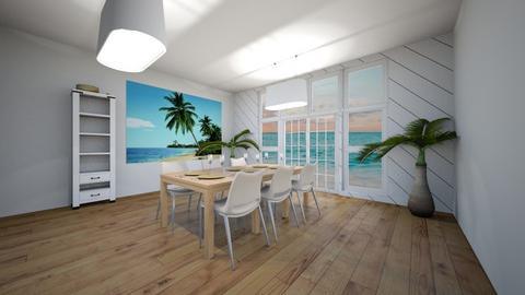 boho beach dining room - by hayden17