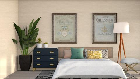 Blue Dresser - Modern - Bedroom  - by CitrusSunrise