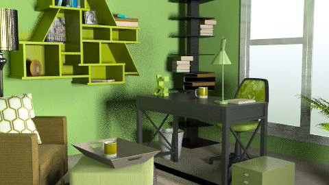 Green Office - Modern - Office  - by Taffy DeJarnette