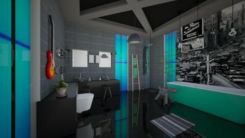 boys bathroom - Modern - Bathroom  - by Evangeline_The_Unicorn
