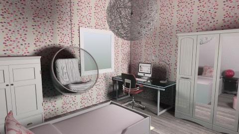 ruzovobili pokoj - Kids room - by couhy26