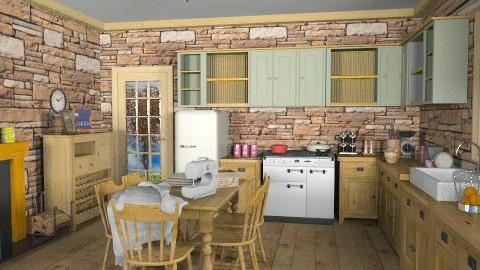 Quebec Rustic Kitchen - Rustic - Kitchen  - by Bibiche