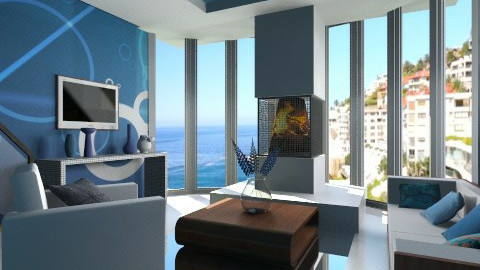 blue light  - Modern - Living room - by Nhezart Designs