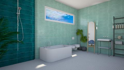 blue - Minimal - Bathroom  - by monek299