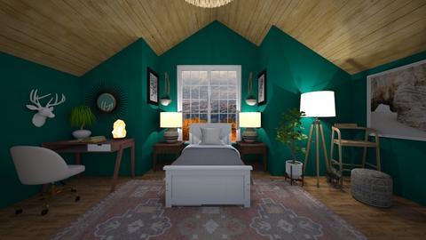 cozy attic - Bedroom  - by llamaperson