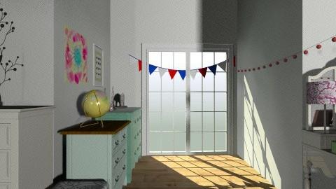 Teenage room - Vintage - Bedroom - by Carmen Lopez_504