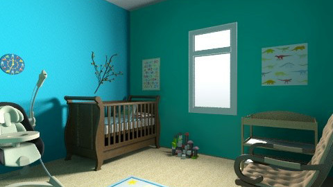 boy nursery - Modern - Kids room  - by brittanykae2011
