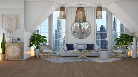 Bohemian - Living room  - by NEVERQUITDESIGNIT