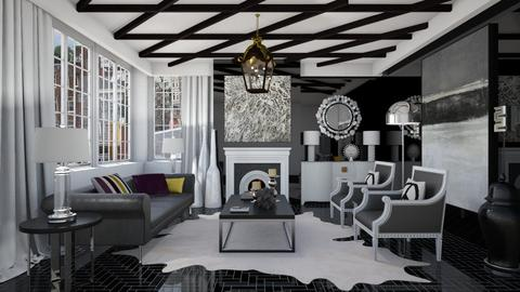 Glammy BW Lounge - Glamour - Living room  - by 3rdfloor