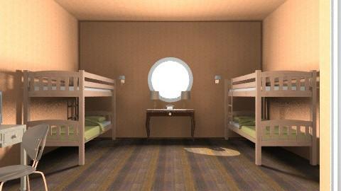 Ship family room - Minimal - Bedroom  - by GRgeoGR