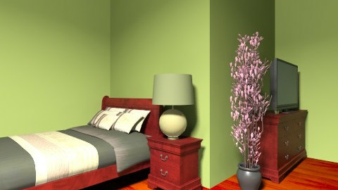green and brown - Country - Bedroom  - by melodyhardman