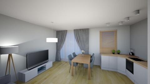 Salon i kuchnia - Living room - by KatarzynaLaszczyk