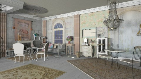 shabby chic living  - Country - Living room - by auntiehelen