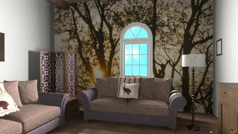 cottage  - Rustic - Living room  - by bethany81