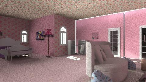 teen girl bedroom - Glamour - Bedroom  - by ashleyebone