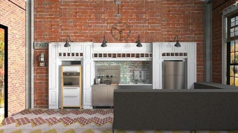 uptown kitchen 2 - Retro - Kitchen  - by Shelley0514