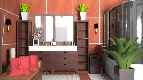 RedWood bath - Modern - Bathroom  - by KittiFarkas