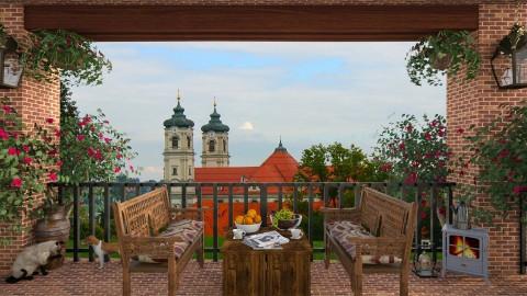 Ottobeuren View - Garden  - by lydiaenderlebell