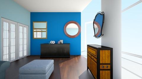 TV wall - Living room - by hala amroussy