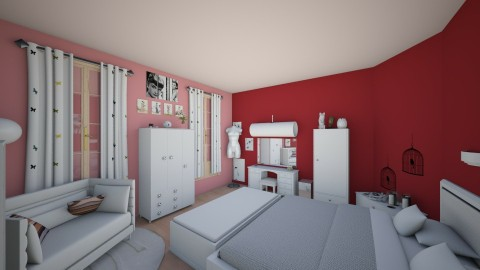 Girl room 5 - Glamour - Bedroom - by Mah003