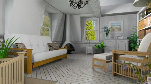 Comfy Attic - Rustic - Living room  - by Bibiche