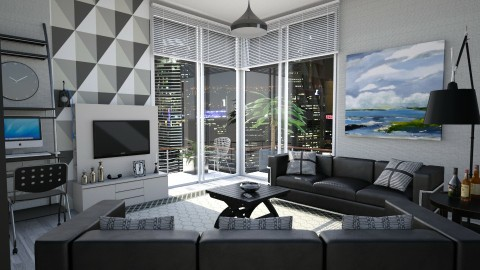 M_ Distant lights - Modern - Living room  - by milyca8
