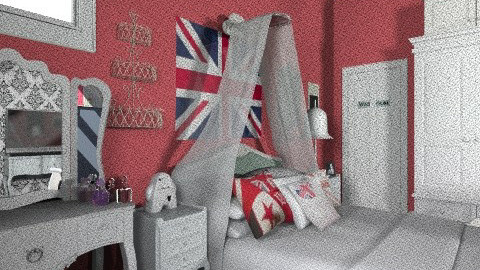 london  - Vintage - Bedroom  - by 15thompmict