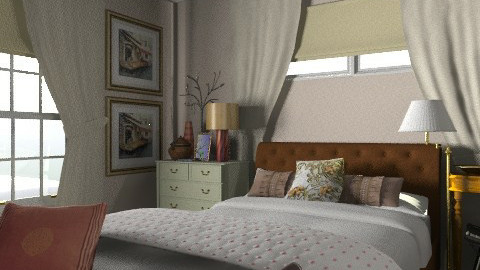 Carameros Master - Eclectic - Bedroom  - by MaryFerrisFDC