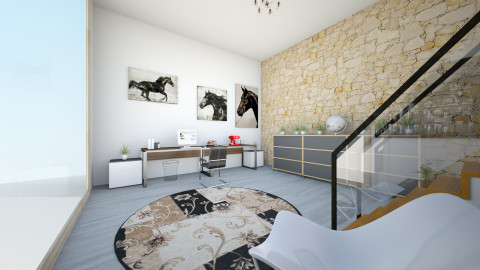 simple study - Modern - Office  - by zamon3106