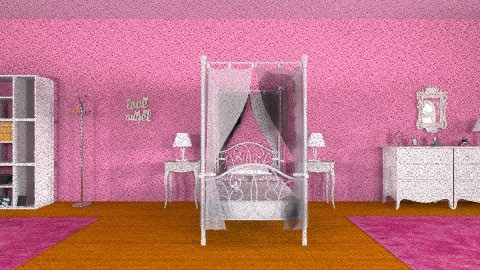 girls room - Glamour - Bedroom - by dynasty