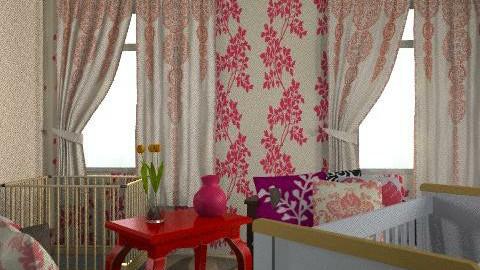 pink baby nursery - Vintage - Kids room  - by stacie83704