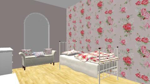 Floral Teenager Bedroom - Vintage - Bedroom  - by floraleleanor