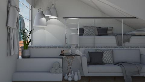 Grey Loft Area - Bedroom  - by KittyKat28