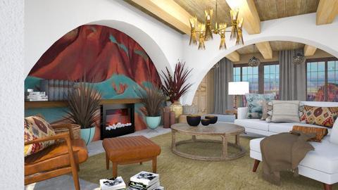 OKeefe Inspired Livg Room - Rustic - Living room - by jjp513