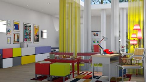 Bauhaus study room 02 - by nat mi