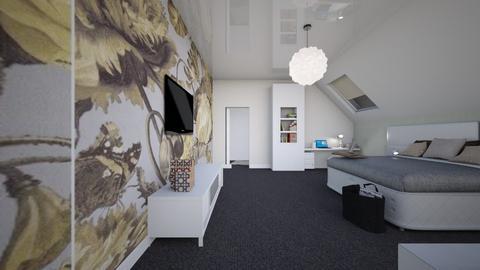 attic bedroom  - Bedroom  - by Flori Santa