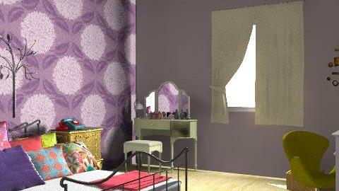 Futuro quarto II - Retro - Bedroom  - by Brubs