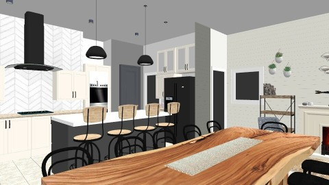 Lake House Kitchen MK - Rustic - Kitchen  - by MelanieLynnKing