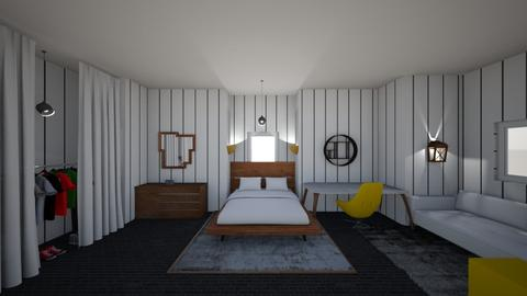 yellow stripes  - Bedroom - by awood23