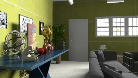 S.F - Glamour - Living room  - by MarinaCosta