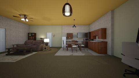 Rustic Style Loft - Living room  - by mspence03