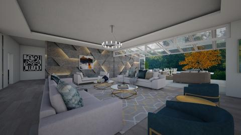 LA House - Living room - by flacazarataca_1