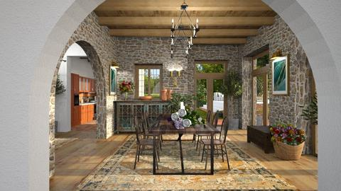 604 - Rustic - Dining room  - by Claudia Correia